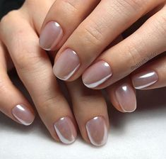 20 Ideas For Neutral Bridal Nails That Are Anything But Boring wedding nails – Wedding İdeas Cute Nails, Pretty Nails, Hair And Nails, My Nails, Nail Art Vernis, Nagellack Design, Manicure E Pedicure, Pedicures, Bridal Nails