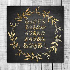 Gold Foil Ampersands Digital ClipArt  transparent by ItGirlDigital