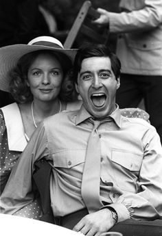 Diane Keaton and Al Pacino during the filming of The Godfather. Diane Keaton und Al Pacino während der Dreharbeiten zu The Godfather. Diane Keaton Al Pacino, Foto Face, Top 10 Films, Don Corleone, Corleone Family, Don Winslow, Photos Rares, The Godfather, Godfather Actors