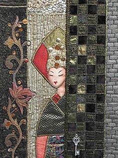 Isabelle Robert-Tranchet  taken form http://www.broderie-de-papier-et-plus.com/article-curieuses-et-surprises-pour-l-amour-du-fil-nantes-2012-1-103994937.html