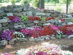 hillside stone garden - idea?