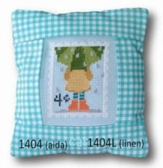 """This is the fourth monthly cross stitch kit titled """"April"""" from Pine Mountain Designs Special Delivery series. The kit includes pre-sewn 5.5..."""