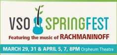 VSO - Spring Festival begins Sat, 29 Mar 2014 in #Vancouver at Orpheum Theatre Family, Music, Entertainment, Festival