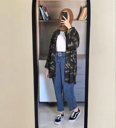 Hijab Style Dress, Modest Fashion Hijab, Casual Hijab Outfit, Cute Casual Outfits, Fashion Outfits, Islamic Fashion, Mode Hijab, Kawaii Clothes, Aesthetic Clothes
