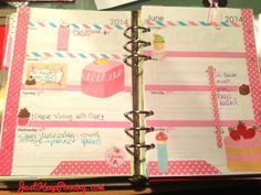 Cake Filofax decoration weekly spread by Just Keep Pinning
