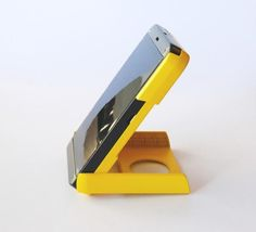 How handy. This compact solar charge will charge your phone anywhere.