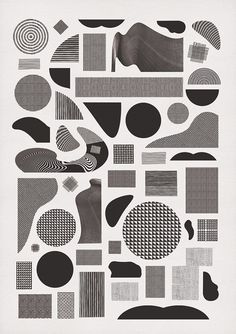 Pattern Alphabet.   momogoods. #white #pattern #black #geometric #poster #and