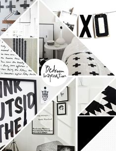 black + white mood board. LOVE!