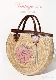 Vintage-chic crochet summer bag by Anabelia Craft Design