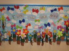 Spring bulletin board:  Plant life cycle foldable and butterfly haiku poetry