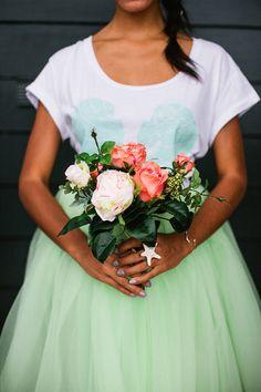 Mint Green Tulle Tutu Skirt Knee/Midi Length by darkponydesigns