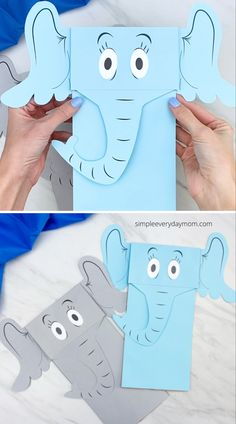 This Horton hears a who puppet craft is a fun activity to do for Dr. Seuss's birthday! Download the free printable template and make it this March. Horton Hears A Who, Crafts For Kids, Arts And Crafts, Puppet Crafts, Fun Activities To Do, Lunch Bags, Programming For Kids, Craft Free, Zoo Animals