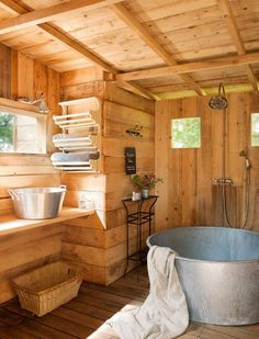 french farmhouse interior French farmhouse - outdoor sauna?