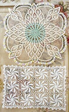 Beautiful Vintage Crochet Lace Doilies by Jenneliserose on Etsy