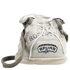 NBA San Antonio Spurs Hoodie Duffel by Pro-FAN-ity by Littlearth. $34.00. Pro-FAN-ity by Littlearth offers you the authentic feel of your favorite sweatshirt in their Officially Licensed Hoodie Duffel. These purses take the authentic look and feel of your favorite team sweatshirt and craft them into purses that will give you that Saturday night style, even when you're heading off to the Sunday afternoon game. Vintage detailing and decorative lacing are just a fe...