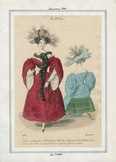 La Mode January 1830 LAPL