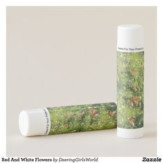 Red And White Flowers Lip Balm