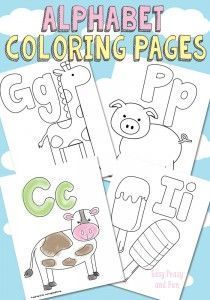 Free Printable Alphabet Coloring Pages