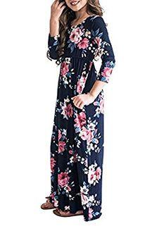 Ancapelion Women/'s Off Shoulder Summer Beach Floral Long Maxi Dress with Pockets