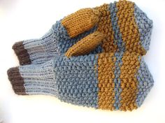 Knitted Men mittens