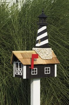 Unique Amish Made Lighthouse Mailboxes | Gifts Nautical