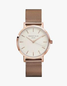Mercer Watch - White/Rose Gold