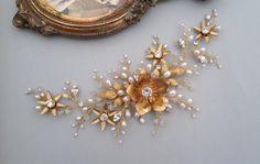 Gold hair vine Bridal Headpiece Wedding Hair Vine Bridal Hair