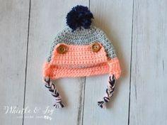 Button Eskimo Baby Hat