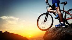 #bike #sport #seemed far away #mountain #sunset #conquer