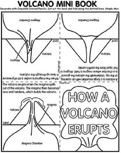 Worksheets Volcano Worksheets all about volcanoes earth space a month and student centered cycle 1 wk 17 volcano mini book lots of other great ideas