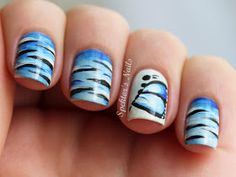 Spektor's Nails: One Stroke Tiger Nails / Butterfly Accent