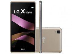 "Smartphone LG X Style 16GB Dourado Dual Chip 4G - Câm. 8MP Flash Tela 5"" Proc. Quad Core Android 6.0"