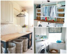 Eye-Catching Basement Laundry and Utility Room Makeover Laundry Room Cabinets, Basement Laundry, Small Laundry Rooms, Laundry Room Organization, Laundry Room Design, Organization Ideas, Storage Ideas, Laundry Closet, Utility Room Designs