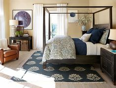 Global Chic Bedroom Room Photo Gallery | Design Studio | Pottery Barn.  Love, love this bed!  So classy, never goes out of style.  The entire room is decorated beautifully.