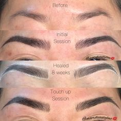 The stages of building brows with 3D Microblading. Love this transformation! This is the Moorebeauty Blend technique. 3D Microblading by Maya @moorebeautylove at Jovance Salon. #microblading #microbladingeyebrows #microbladingtraining #microbladingbrows #microbladingartist #healed #healedbrows #healedtattoo #eyebrowsonfleek #eyebrowsonpoint #eyebrowembroidery #bayarea #beautyblog