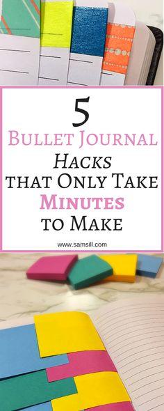 Bullet journal hacks for students DIY