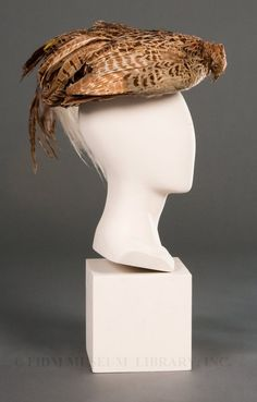 Hat, circa 1905 (excuse me madame but a bird appears to have died on your head...)