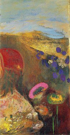 Odilon Redon - Strange flowers (Fleurs étranges), 1910