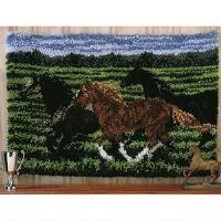 Craftways® Running Horses Rug Latch Hook Kit