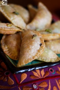 Karanji Recipe-Diwali Special-Karanji as known in Marathi is a popular Diwali snack among Maharashtrians. It is a deep fried sweet snack made from all-purpose flour and is stuffed with coconut, nuts and sugar mixture.