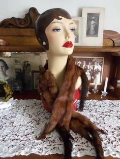 Vintage 1940's FOX FUR STOLEAnimal Fur Wrap3 by SusieQsVintageShop, $18.00 SOLD