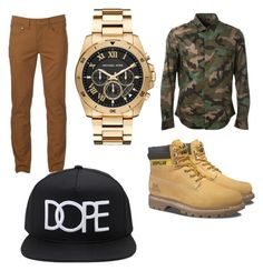 """guy/girl outfit"" by thatnerdygirl on Polyvore featuring Valentino, Urban Pipeline, Caterpillar, Michael Kors, Forever 21, men's fashion and menswear"
