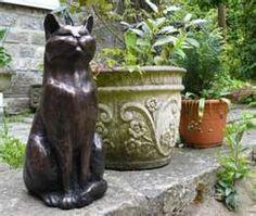Ordinaire Cat Garden Ornaments Bronze Cat Garden Sculpture