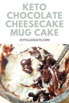 Warm chocolate cake plus a creamy cheesecake topping and melty chocolate chips? My Single Serve Black Bottom Cupcake is an easy Keto Mug Cake that tastes like heaven and is ready in about five minutes. This easy recipe is low carb, keto, gluten-free, grain-free, sugar-free, and Trim Healthy Mama friendly. Trim Healthy Recipes, Low Carb Recipes, Low Carb Keto, Sugar Free Desserts, Gluten Free Desserts, Chocolate Chips, Chocolate Cake, Single Serve Cookie, Mug Recipes