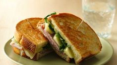 grilled ham cheese and apple sandwiches