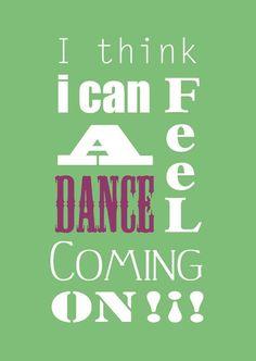 I think I feel a dance coming on. ZUMBA.