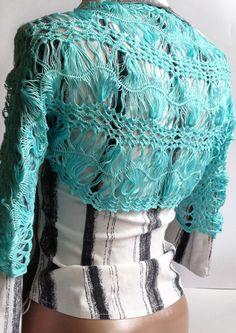 hair pin lace shrug | ... Lace Bolero/ Hairpin lace Bolero/ Hairpin crochet Shrug/ Lace Shrug