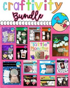 Ultimate Craftivity Bundle: Year Round Activities January February March April May June July August September October November December Craftivities Hands On Reading, Math, Science First Grade Activities, Classroom Activities, Kindergarten Crafts, Teaching Materials, Teaching Resources, Diy Arts And Crafts, Crafts For Kids, Counting In 5s, Thing 1