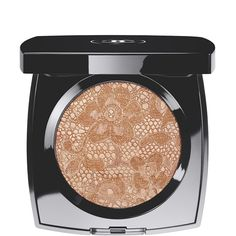 LACE POWDER!  Out of stock, but Chanel isn't cruelty-free, anyway.  Basically it's just here because it's pretty to look at. OMG I COULD TOTALLY PRESS MY OWN POWDER INTO THIS SHAPE!  *REVOLUTION!*  DENTELLE PRÉCIEUSE ILLUMINATING POWDER (0.21 OZ.)