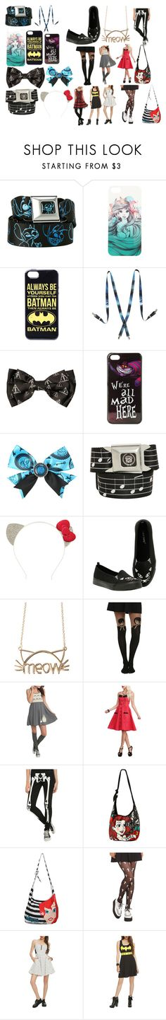"""Hot Topic"" by kiara-fleming ❤ liked on Polyvore featuring Disney, Hot Topic, Music Notes, Hello Kitty, Ghibli and Hell Bunny"